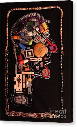Modern Arcimboldo Canvas Print by Joe Jake Pratt