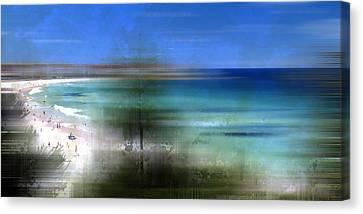 Modern-art Bondi Beach Canvas Print by Melanie Viola