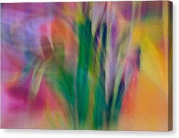 Canvas Print featuring the photograph Modern Art Flower Garden by Susan Leggett