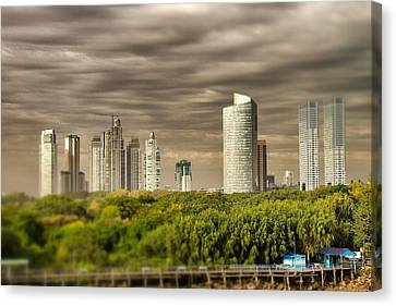 Modern Buenos Aires Tilt Shift Canvas Print by For Ninety One Days