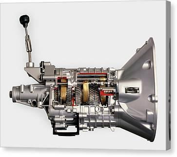 Modern Car 5-speed Manual Gearbox Canvas Print by Dorling Kindersley/uig