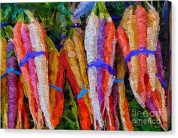 Modern Carrot Painting Canvas Print by Andrea Auletta