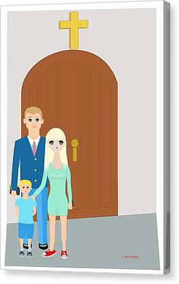 Modern Church Family Canvas Print