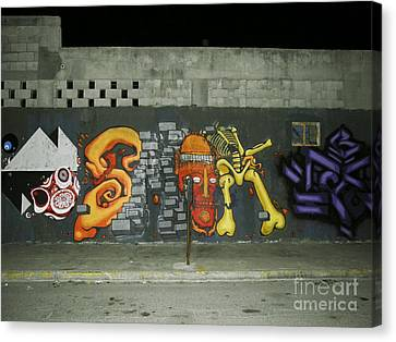 Modern Colorful Street Graffiti Urban Art Photography Canvas Print by Carlos Martinez
