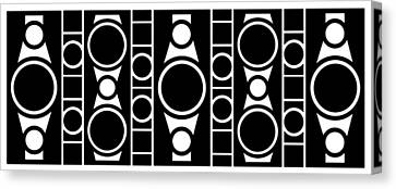 Modern Design 2 In Black Canvas Print by Mike McGlothlen