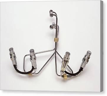 Modern Diesel Fuel Injection System Canvas Print by Dorling Kindersley/uig
