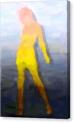Full-length Portrait Canvas Print - Modern Girl by Tommytechno Sweden