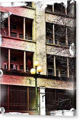 Modern Grungy City Building  Canvas Print by Valerie Garner