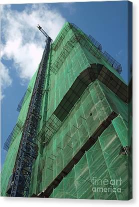 Modern Highrise Construction Canvas Print by Yali Shi