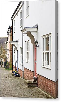 Modern Homes Canvas Print by Tom Gowanlock