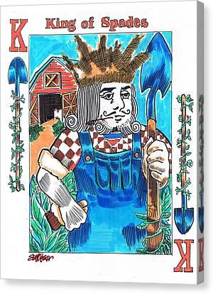 Modern King O' Spades Canvas Print by Seth Weaver