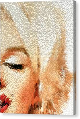 Modern Marilyn - Marilyn Monroe Art By Sharon Cummings Canvas Print by Sharon Cummings