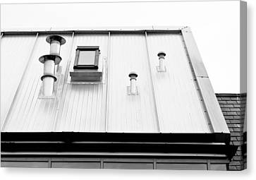 Inverted Canvas Print - Modern Roof by Tom Gowanlock