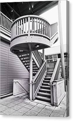Fire Escape Canvas Print - Modern Stairs by Tom Gowanlock