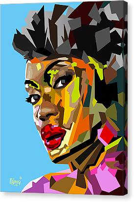 Canvas Print featuring the digital art Modern Woman by Anthony Mwangi