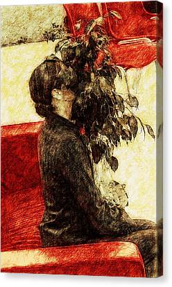 Hiding Canvas Print by Yevgeni Kacnelson