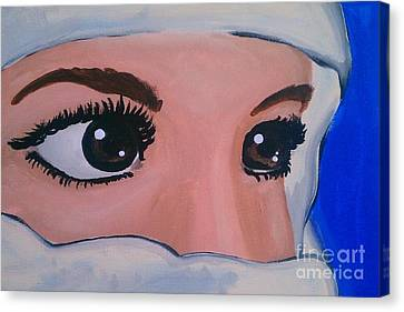 Modesty Canvas Print by Marisela Mungia