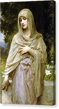 Modesty Canvas Print by William Bouguereau