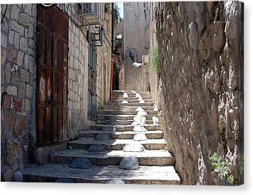 Modified Stairway Canvas Print by David Rosenthal