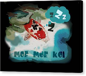 Moe Moe Koi Canvas Print by Wendy Wiese