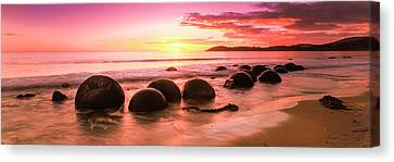 Moeraki Boulders On The Beach Canvas Print by Panoramic Images