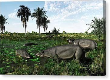 Moeritherium Mammals Canvas Print