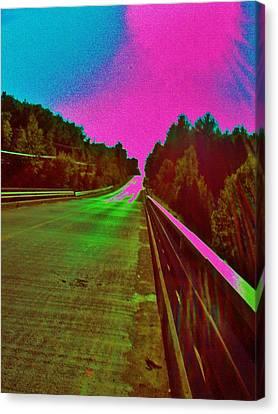 Canvas Print featuring the photograph Moffit Bridge And Maple Ridge Rd. by Daniel Thompson