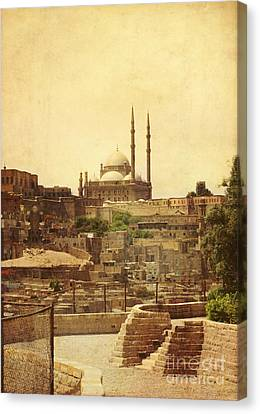 Canvas Print featuring the photograph Mohamed Ali Mosque In Cairo by Mohamed Elkhamisy