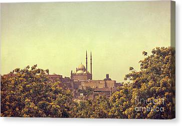 Canvas Print featuring the photograph Mohamed Ali Mosque by Mohamed Elkhamisy