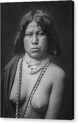 Mohave Woman Circa 1903 Canvas Print by Aged Pixel
