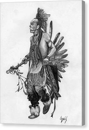 Mohawk Dancer Canvas Print by Lew Davis