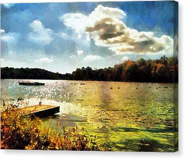 Mohegan Lake Gold Canvas Print by Derek Gedney