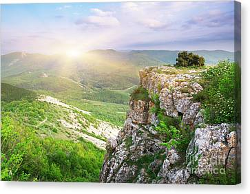 Mointain Beautiful Canvas Print by Boon Mee