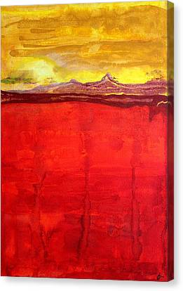 Mojave Dawn Original Painting Canvas Print by Sol Luckman
