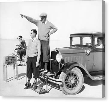Mojave Desert Golf Course Canvas Print