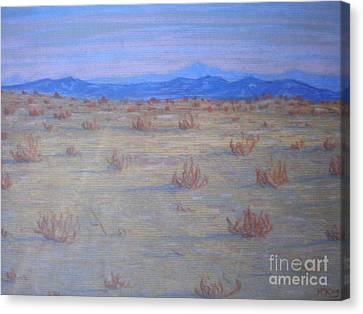 Canvas Print featuring the painting Mojave Memories by Suzanne McKay