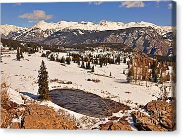 Molas Pass Winter Canvas Print