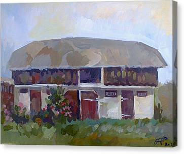 Moldavian Barn Canvas Print by Filip Mihail