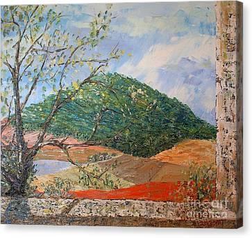 Mole Hill Greets The Morning - Sold Canvas Print by Judith Espinoza