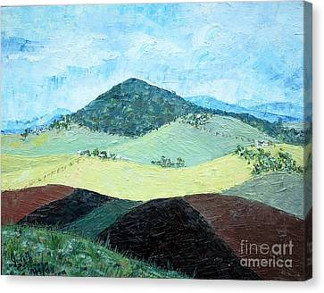 Mole Hill - Sold Canvas Print by Judith Espinoza
