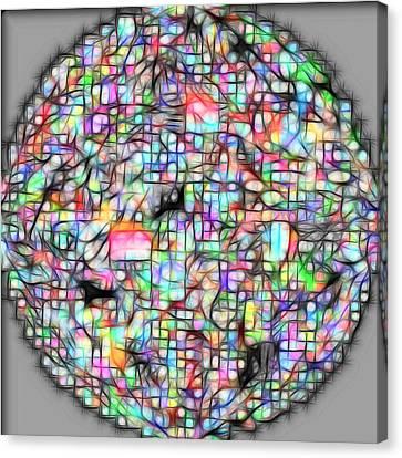 Molecule Canvas Print by George Curington
