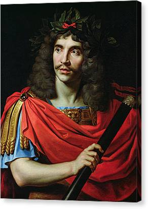 Moliere In The Role Of Caesar In The Death Of Pompey Oil On Canvas Canvas Print