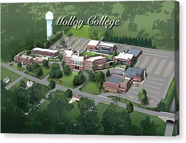 Molloy College Canvas Print by Rhett and Sherry  Erb