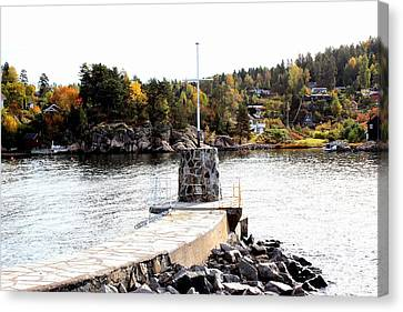 Molo By The Norwegian Fjord Canvas Print