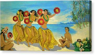 Moloka'i Hula 2 Canvas Print by James Temple