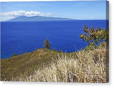 Molokai Island Viewed From Maui Island Canvas Print by Sami Sarkis