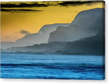 Molokais North Shore Sea Cliffs Canvas Print