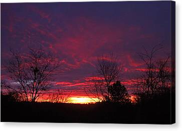 Molten Sunrise Canvas Print