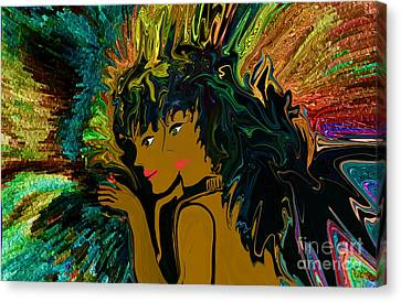Arcylic Canvas Print - Mom And Daughters Evening Out by Sherri's Of Palm Springs