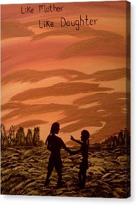 Mom And Me Canvas Print by Renee McKnight